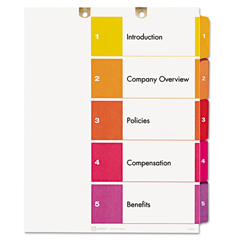 AVE13157 - Avery® Preprinted Tab Dividers for Classification Folders