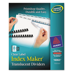AVE16063 - Avery® Index Maker® Unpunched Label Dividers