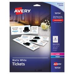 AVE16154 - Avery® Tickets w/Tear-Away Stubs