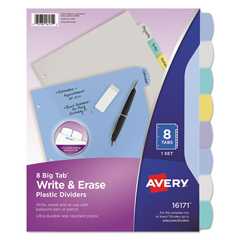 AVE16171 - Avery® Translucent Durable Write-On Reference Index Dividers