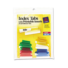 AVE16219 - Avery® Self-Adhesive Plastic Tabs with Printable Inserts