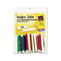 AVE16239 - Avery® Self-Adhesive Plastic Tabs with Printable Inserts
