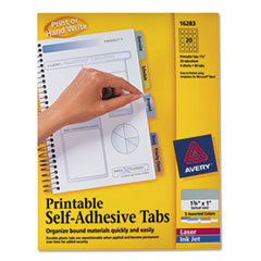 AVE16283 - Avery® Printable Repositionable Plastic Tabs