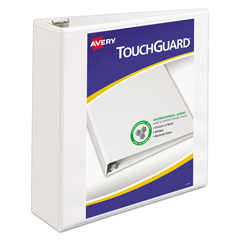 AVE17144 - Avery® Touchguard® Antimicrobial View Binder with Slant Rings