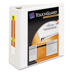 AVE17145 - Avery® Touchguard® Antimicrobial View Binder with Slant Rings