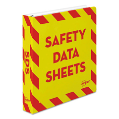 AVE18950 - Avery® Safety Data Sheet Heavy-Duty Non-View Preprinted Binder