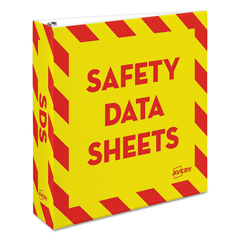 AVE18951 - Avery® Safety Data Sheet Heavy-Duty Non-View Preprinted Binder