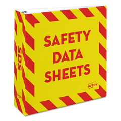 AVE18952 - Avery® Safety Data Sheet Heavy-Duty Non-View Preprinted Binder