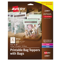 AVE22801 - Avery® Printable Bag Toppers with Bags