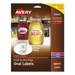 AVE22820 - Avery® Oval Easy Peel® Labels