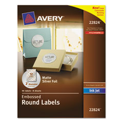 AVE22824 - Avery® Embossed Round Labels