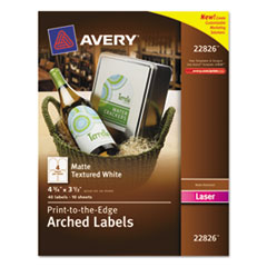 AVE22826 - Avery® Textured Arched Easy Peel® Labels