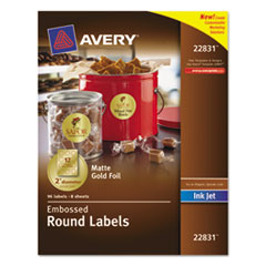 AVE22831 - Avery® Embossed Round Labels