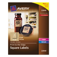 AVE22846 - Avery® Square Print-to-the-Edge Labels