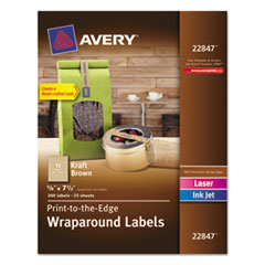 AVE22847 - Avery® Kraft Brown Label Strips