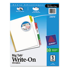 AVE23076 - Avery® Big Tab™ Write-On Dividers with Erasable Laminated Tabs