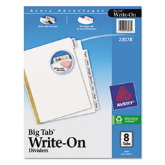 AVE23078 - Avery® Big Tab™ Write & Erase Paper Dividers
