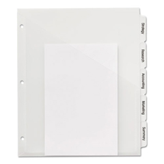 AVE23120 - Avery® Index Maker® Print & Apply Clear Label Plastic Dividers