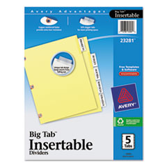 AVE23281 - Avery® WorkSaver® Big Tab™ Paper Dividers