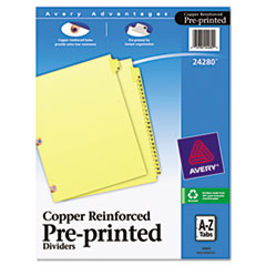 AVE24280 - Avery® Printed Laminated Tab Dividers with Copper Reinforced Holes
