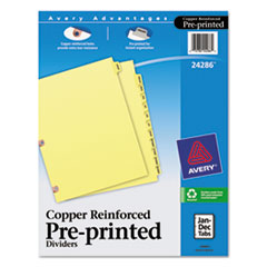 AVE24286 - Avery® Printed Laminated Tab Dividers with Copper Reinforced Holes