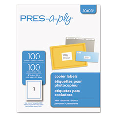 AVE30403 - Avery® PRES-a-ply White Copier Labels