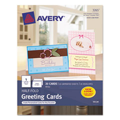 AVE3265 - Avery® Half-Fold Greeting Cards with Envelopes