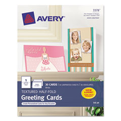 AVE3378 - Avery® Textured Half-Fold Greeting Cards with Envelopes