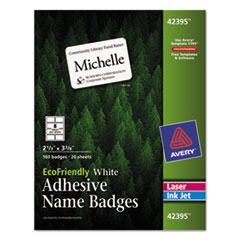 AVE42395 - Avery® EcoFriendly Name Badges