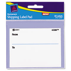 AVE45280 - Avery® Permanent Label Pads