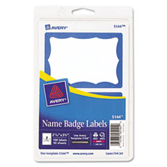 AVE5144 - Avery® Blue Border Removable Adhesive Print or Write Name Badge Labels