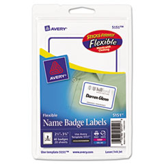 AVE5151 - Avery® Flexible Removable Adhesive Name Badge Labels
