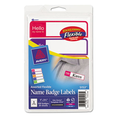 AVE5153 - Avery® Flexible Name Badge Labels