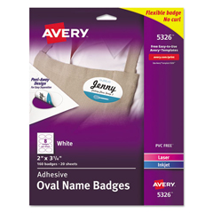 AVE5326 - Avery® Flexible Self-Adhesive Name Badge Labels