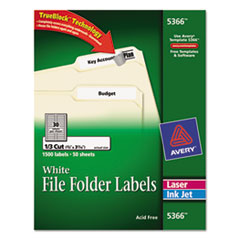AVE5366 - Avery® Permanent File Folder Labels with TrueBlock™ Technology