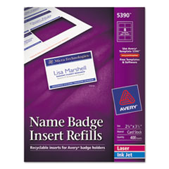 AVE5390 - Avery® Name Badge Inserts