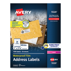 AVE5520 - Avery® WeatherProof™ Durable Labels