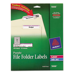 AVE5666 - Avery® Permanent File Folder Labels with TrueBlock™ Technology