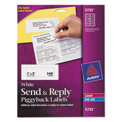 AVE5735 - Avery® Send and Reply Piggyback Labels