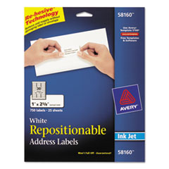 AVE58160 - Avery® Repositionable Address Labels