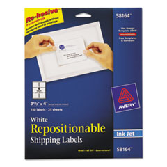 AVE58164 - Avery® Repositionable Shipping Labels