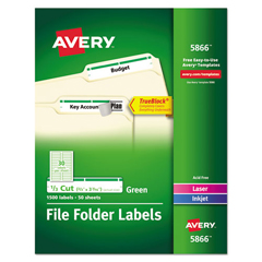 AVE5866 - Avery® Permanent File Folder Labels with TrueBlock™ Technology