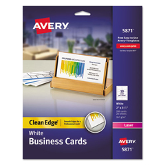 AVE5871 - Avery® 2-Side Printable Clean Edge® Business Cards