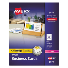 AVE5874 - Avery® 2-Side Printable Clean Edge® Business Cards