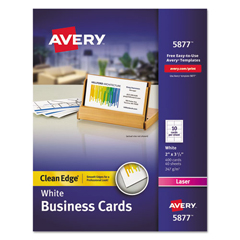 AVE5877 - Avery® 2-Side Printable Clean Edge® Business Cards