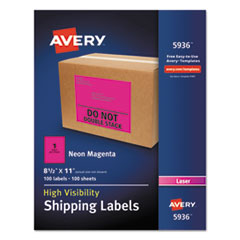 AVE5936 - Avery® Neon Shipping Label