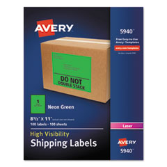 AVE5940 - Avery® Neon Shipping Label