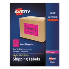 AVE5948 - Avery® Neon Shipping Label