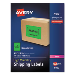 AVE5952 - Avery® Neon Shipping Label