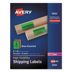 AVE5956 - Avery® Neon Shipping Label
